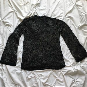 Flare-Sleeve Knit Top